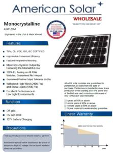 Best 20 Watt Solar Panel Made For The USA