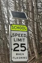 Solar School Sign